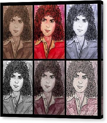 Marc Bolan Glam Rocker Collage Canvas Print