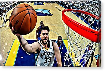 Marc Gasol Canvas Print by Florian Rodarte
