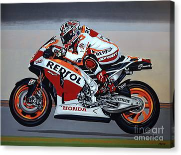Marc Marquez Canvas Print by Paul Meijering
