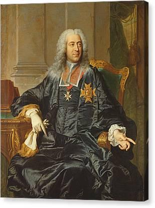 Marc-pierre De Voyer-de-paulmy 1696-1764 Count Of Argenson Oil On Canvas Canvas Print