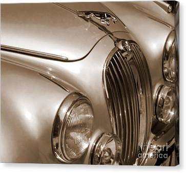 Antique Automobiles Canvas Print - Marcella's Jag by Michelle Wiarda-Constantine