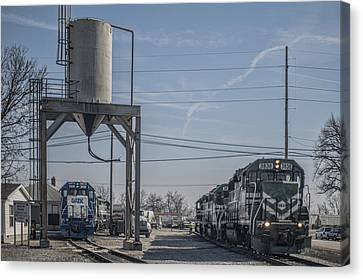 March 11. 2015 - Evansville Western Railway Engine 3836 Canvas Print by Jim Pearson