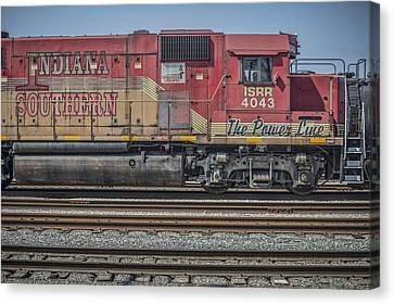 Southern Indiana Canvas Print - March 11. 2015 - Indiana Southern Railway Engine 4043 by Jim Pearson