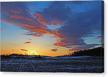 March 14 Sunset Fabius Canvas Print by John   Kennedy