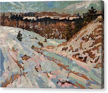 Snow Melt Canvas Print - March Melt by Phil Chadwick
