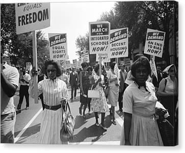 March On Washington Canvas Print