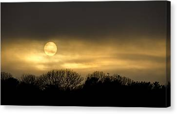 March Sunset Canvas Print