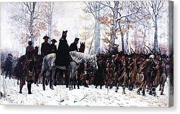 March To Valley Forge  Canvas Print by Pg Reproductions