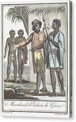 Marchand D' Esclaves De Goree Canvas Print by British Library