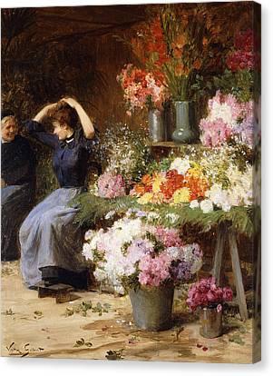 Marchande De Fleurs Canvas Print