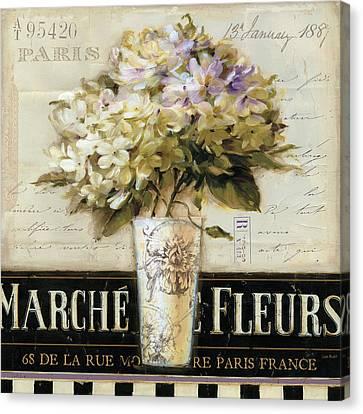 Marche De Fleurs Canvas Print by Lisa Audit