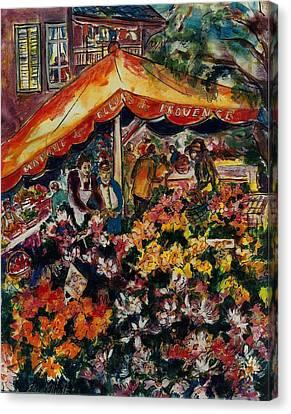 Marche Des Fleurs Canvas Print