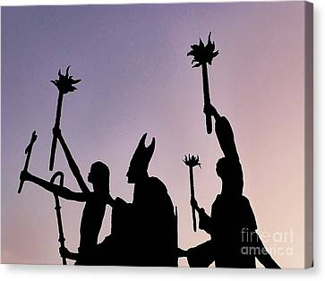 Marching At Dusk Canvas Print by Millie Reeve