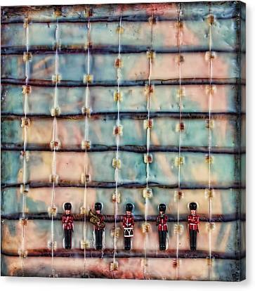 Officer Canvas Print - Marching Band Encaustic by Bellesouth Studio