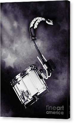 Marching Band Canvas Print - Marching Band Snare Drum Photograph In Sepia 3329.01 by M K  Miller