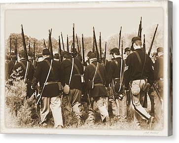 Canvas Print featuring the photograph Marching Into Battle by Judi Quelland