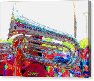 Tubist Canvas Print - Marching Tuba by C H Apperson