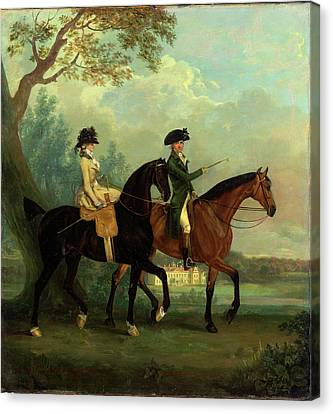 Marcia Pitt And Her Brother George Pitt, Later 2nd Baron Canvas Print by Litz Collection