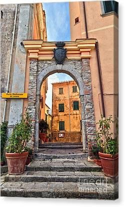 Marciana - Ancient Gate Canvas Print by Antonio Scarpi