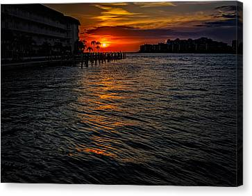 Canvas Print featuring the photograph Marco Island Sunset 43 by Mark Myhaver
