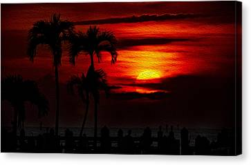 Canvas Print featuring the photograph Marco Island Sunset 59 by Mark Myhaver