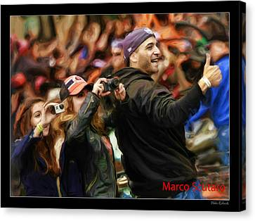 Marco Scutaro World Series 2012 Canvas Print by Blake Richards