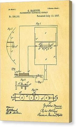 Marconi Radio Patent Art 1897 Canvas Print