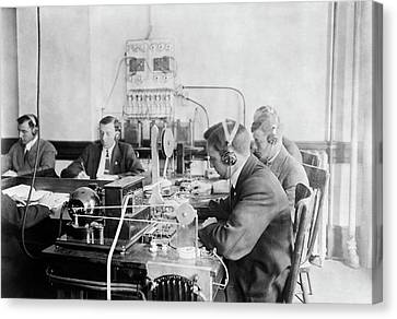 Marconi Wireless School Canvas Print by Library Of Congress