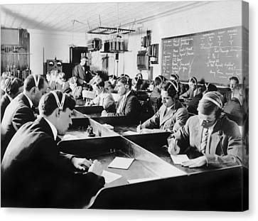 Marconi Wireless School Canvas Print by Underwood Archives