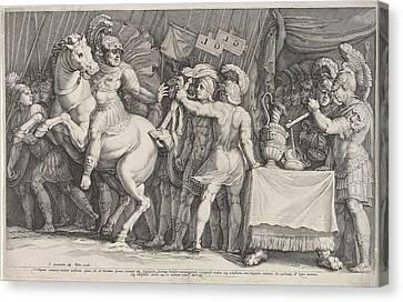 Marcus Furius Camillus Arrives In Rome, Italy Canvas Print