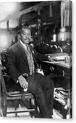 1924 Canvas Print - Marcus Garvey At His Desk by Underwood Archives