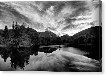 Marcy Dam Pond Black And White Canvas Print by Joshua House