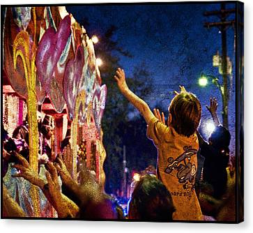 Mardi Gras At Night Canvas Print