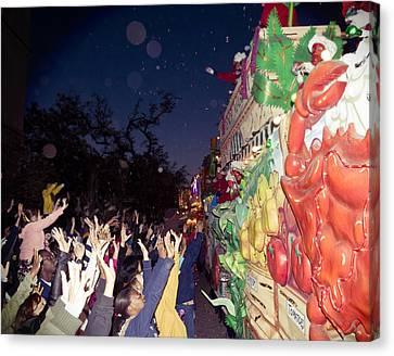 Mardi Gras Atmosphere Canvas Print by Ray Devlin