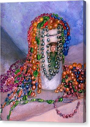 Mardi Gras Beads In Louisiana Canvas Print by Lenora  De Lude
