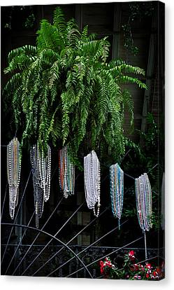 Mardi Gras Beads New Orleans Canvas Print by Christine Till