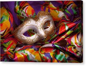 Mardi Gras - Celebrating Mardi Gras  Canvas Print by Mike Savad