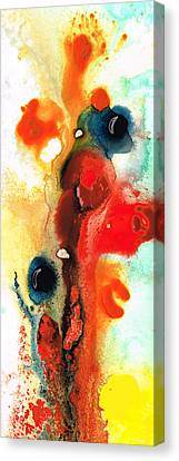 Mardi Gras - Colorful Abstract Art By Sharon Cummings Canvas Print by Sharon Cummings