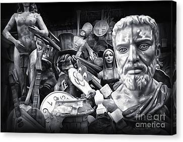 Mardi Gras Float Factory Canvas Print by Gregory Dyer