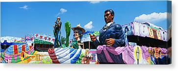 Mardi Gras Floats Canvas Print