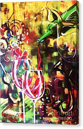 Mardi Gras Canvas Print by Lisa Owen-Lynch