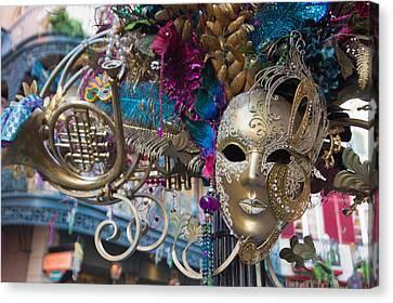 Mardi Gras Mask Canvas Print by Heidi Smith