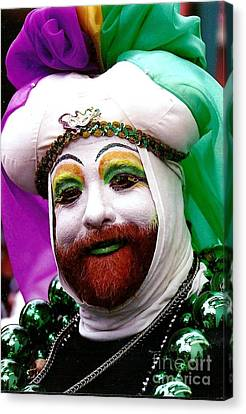 Canvas Print featuring the photograph Mardi Gras New Orleans La by Michael Hoard