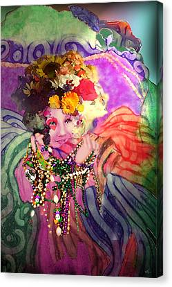 Mardi Gras Queen Canvas Print