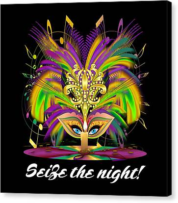 Mardi Gras Queen Style 2 Vector Sample Canvas Print by Bill Campitelle