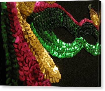 Canvas Print featuring the photograph Mardi Gras Time by Beth Vincent