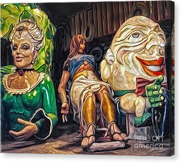 Mardi Gras World - Humpty Dumpty And Showgirls Canvas Print by Gregory Dyer