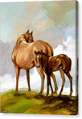 Mare And Foal Canvas Print by Patricia Howitt