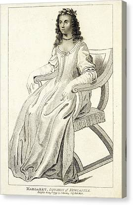 Margaret Cavendish Canvas Print by British Library