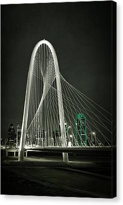 Unique Structure Canvas Print - Margaret Hunt Hill Bridge By Night by Joan Carroll
